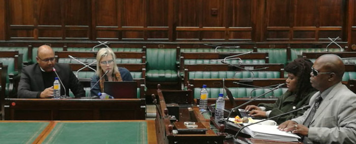 FILE: AgriSA officials addressing MPs during public hearings on land reform at Parliament. Picture: @ParliamentofRSA/Twitter.