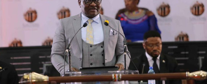 Gauteng Premier David Makhura during his State of the Province Address on 18 February 2019. Picture: @GautengProvince/Twitter.