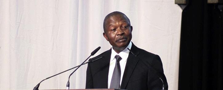 FILE: Deputy President David Mabuza speaks at the special official memorial for ANC veteran Zola Skweyiya. Picture: Kayleen Morgan/EWN.