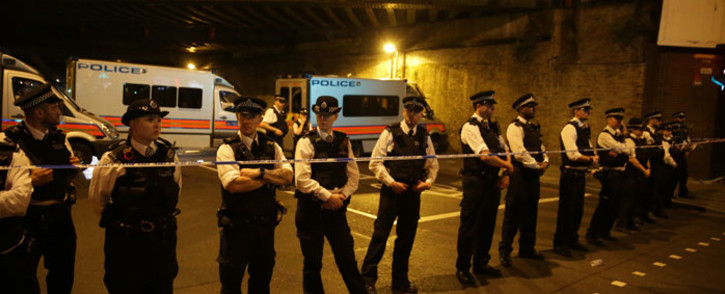 FILE: London police cordon off a crime scene where a van rammed people leaving the Finsbury Park Mosque. Picture: AFP.