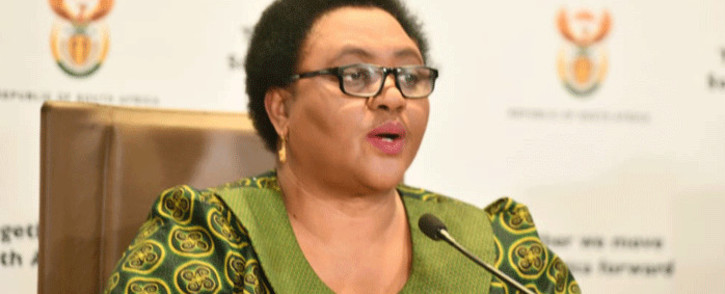 Agriculture Minister Thoko Didiza at a briefing on 6 April 2020. Picture: @GovernmentZA/Twitter.