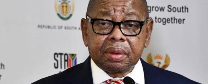 Minister of Higher Education, Science and Innovation Blade Nzimande addresses members of the media in Pretoria on 8 March 2021 on funding discussions for prospective students for the 2021 academic year. Picture: GCIS