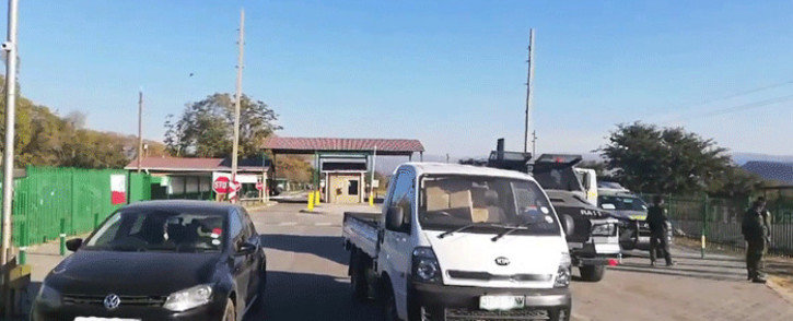Outside the Lanxess Chrome Mine in Rustenburg where miners staged an underground protest against a mine captain who was alleged to have sexually assaulted and victimised a female employee. Picture: Supplied.