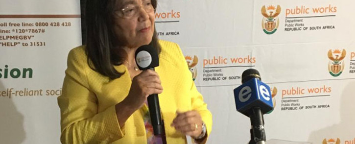 FILE: Public Works Minister Patricia de Lille. Picture: @DepartmentPWI/Twitter