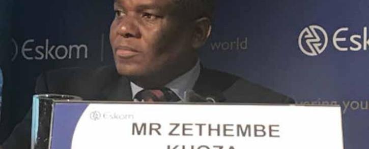 FILE: Zethembe Khoza, the interim board chairperson of the Eskom board briefs media on 19 July 2017. Picture: Kgothatso Mogale/EWN