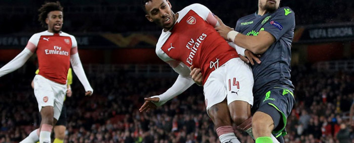 Arsenal in action against Sporting Lisbon in their UEFA Europa League match on 8 November 2018. Picture: @Arsenal/Twitter