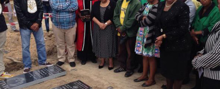 Two tombstones have been donated for the graves of little Zandile and Yonelisa Mali. Picture: Lesego Ngobeni/EWN