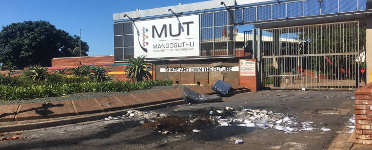 The Mangosuthu University of Technology following a protest led by EFF Students over registration and funding issues on Thursday, 8 April 2021. Picture: Nkosikhona Duma/Eyewitness News