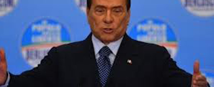 Former Italy Prime Minister Silvio Berlusconi. Picture: AFP.