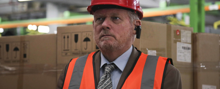 Minister of Trade and Industry Rob Davies during his visit to the Hisense factory in Atlantis where a R12 million investment in TV manufacturing at the factory was announced. Picture: Cindy Archillies/EWN
