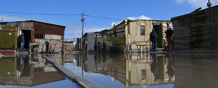 FILE: An informal settlement in Cape Town is flooded after heavy rain. Picture: EWN