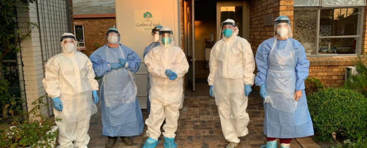 Doctors conduct COVID-19 testing at a special needs facility in Cape Town. Picture: Masks For Medics/Facebook.