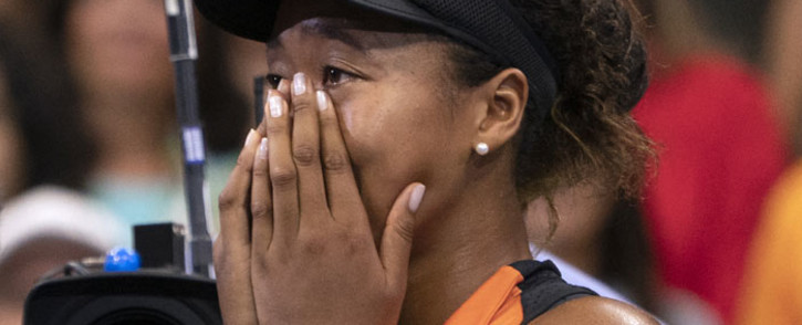 FILE: Naomi Osaka of Japan cries while being interviewed after her match against Coco Gauff of the US during their Round 3 women's Singles match at the 2019 US Open. Picture: AFP