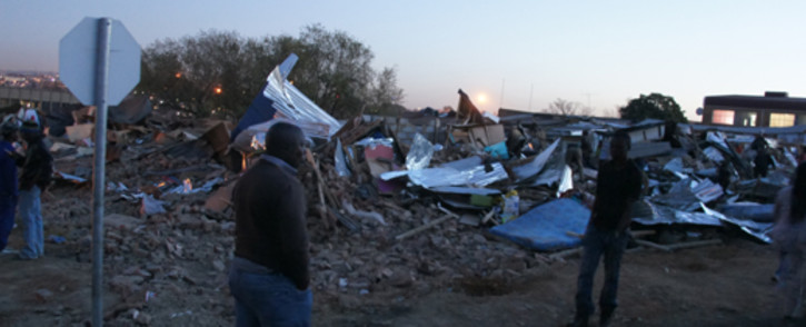 FILE: The municipality obtained a court order to breakdown about 100 shacks that had been illegally erected. Picture: Christa van der Walt/EWN