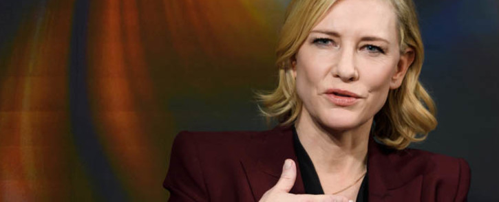 FILE: Australian actress Cate Blanchett speaks during the World Economic Forum (WEF) 2018 annual meeting, on 23 January 2018. Picture: AFP