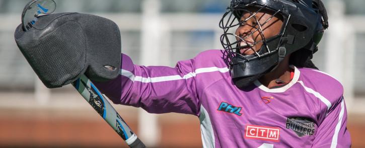SA women's hockey goalkeeper Phumelela Mbande. Picture: Twitter @phumz_24