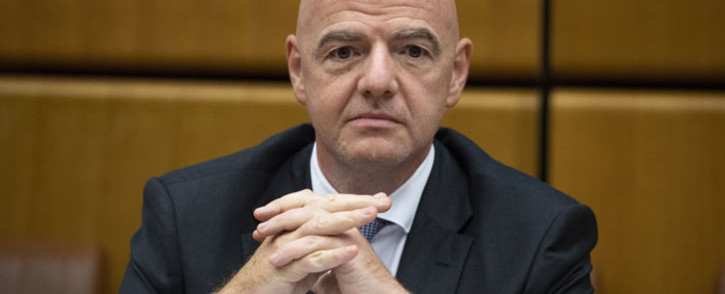 FILE: FIFA president Gianni Infantino has been asked by UEFA have asked to change the handball rule. Picture: AFP
