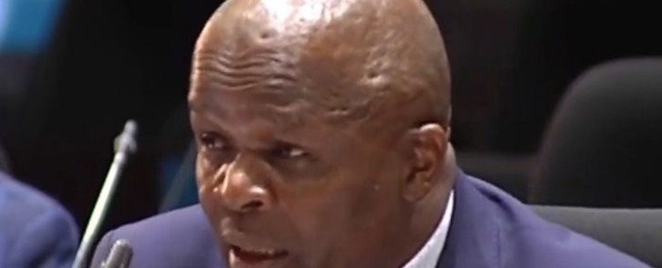 A screengrab of Deputy Finance Minister Mondli Gungubele testifying at the commission of inquiry into governance at the Public Investment Corporation on 25 February 2019.