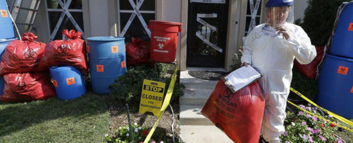 James Faulk, a man who decorated his Dallas home for Halloween to resemble an Ebola hot spot. Picture: Facebook.com