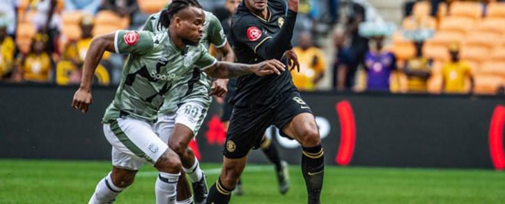 Kaizer Chiefs' Leonardo Castro (right) chases down a  ball during the Absa Premiership match against Cape Town City FC at the FNB Stadium in Johannesburg on 12 January 2020. Picture: @KaizerChiefs/Twitter