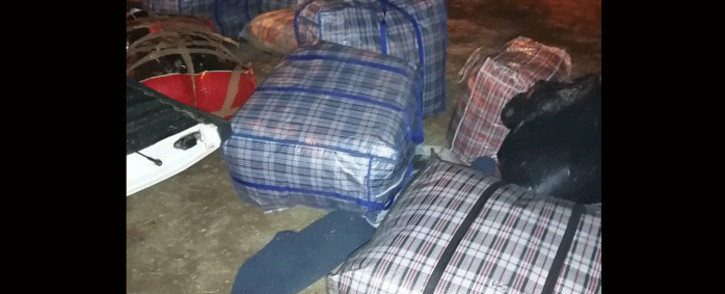 A 44-year-old male was arrested in Kagisho, Galeshewe, on 3 August 2021 for dealing in dagga. Picture: SAPS.