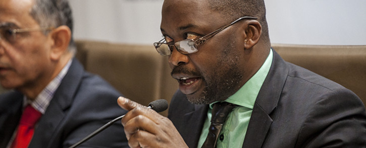 FILE: Justice Minister Michael Masutha addresses the media at the GCIS head office in Pretoria on 21 October 2016 to confirm South Africa's decision to withdraw from the International Crimanal Court. Picture: Reinart Toerien/EWN
