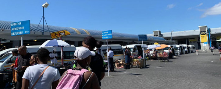 The Cape Town taxi rank in the CBD. Picture: Kaylynn Palm/EWN