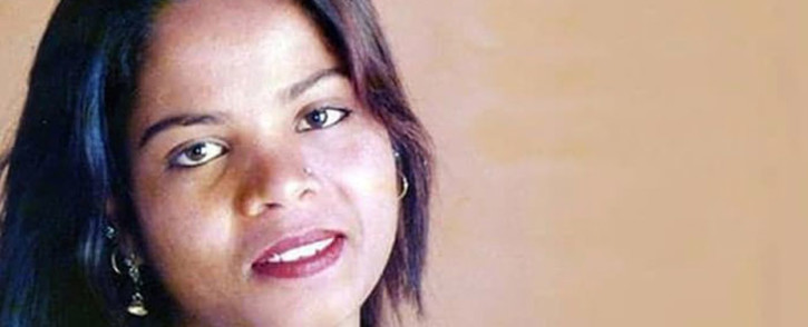 This file undated handout photo released to AFP on 1 November 2018 via the UK charity British Pakistani Christian Association shows a portrait of Asia Bibi, who had been on death row in Pakistan since 2010. Picture: AFP