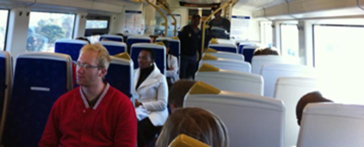 Passengers inside the Gautrain. Picture: Eyewitness News