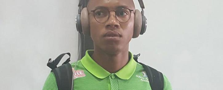 Bafana Bafana midfielder Andile Jalie. Picture: @BafanaBafana/Twitter