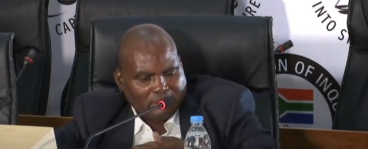 A screenshot of former Transnet treasurer Phetolo Ramosebudi at the state capture commission on Thursday, 26 November 2020. Picture: SABC Digital News/Youtube