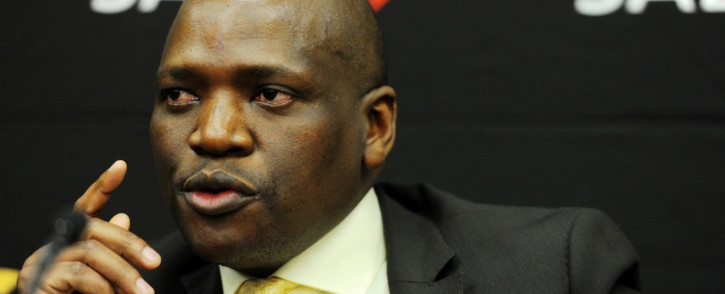 SABC Chief Operating Officer Hlaudi Motsoeneng is seen at a news conference in Johannesburg on Friday, 22 August 2014. Picture: Sapa.