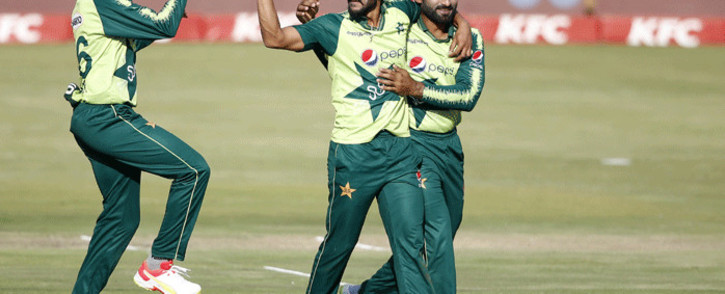 FILE: Pakistan players celebrate a wicket. Picture: @ICC/Twitter