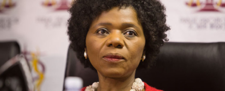 Outgoing Public Protector Thuli Madonsela ahead of her final press briefing as the countrys Public Protector in Pretoria. Picture: Reinart Toerien/EWN.