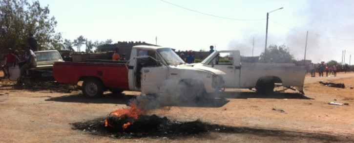 Service delivery protests in Christiana near Bloemhof in the North West. Picture: Lesego Ngobeni/EWN.