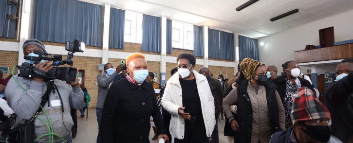 Minister Lindiwe Zulu and Acting Minister of Health, Mmamoloko Kubayi-Ngubane officially launched social development sector vaccination programme on 19 July 2021. Picture: Twitter/@The_DSD