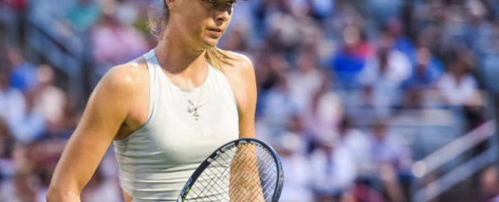 FILE: Maria Sharapova at the 2018 US Open. Picture: @usopen/Twitter