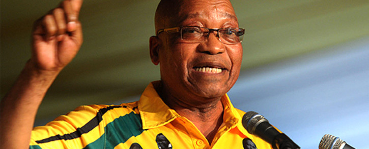 ANC President Jacob Zuma addresses delegates at the party's elective conference in Mangaung on 16 December 2012. Picture: ANC pi