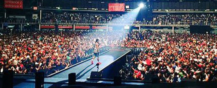 Cassper Nyovest sold out the Ticketpro Dome on 31 October, 2015. Picture: Twitter @MbalulaFikile.