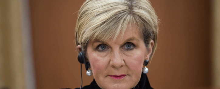 Australia's foreign minister Julie Bishop attends a meeting with South Korea's foreign minister Kang Kyung-wha at the Ministry of Foreign Affairs in Seoul on 13 October 2017. Picture: AFP.
