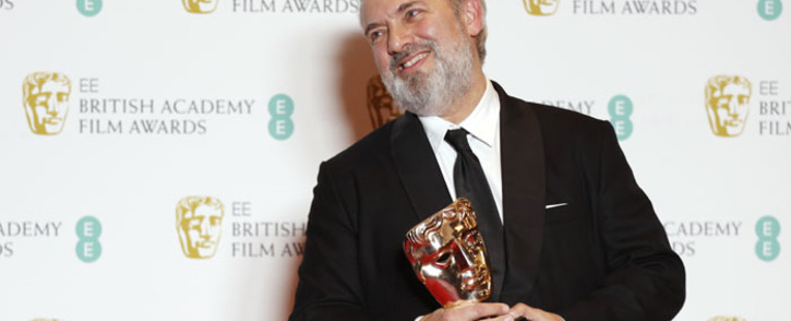 British director Sam Mendes poses with the award for a Director for his work on the film '1917' at the BAFTA British Academy Film Awards at the Royal Albert Hall in London on 2 February 2020. Picture: AFP