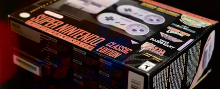 A screengrab of the Super Nintendo Classic Edition gaming console. Picture: CNN
