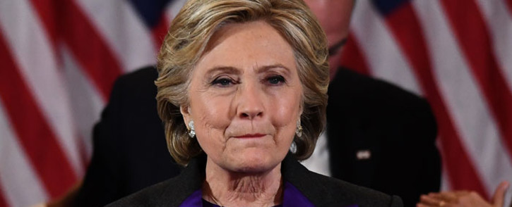 """FILE: Hillary Clinton joked that the letter had been """"found in the archives"""". Picture: AFP."""