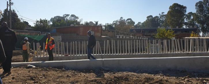 The Diepsloot bridge under construction. Picture: @HermanMashaba/Twitter