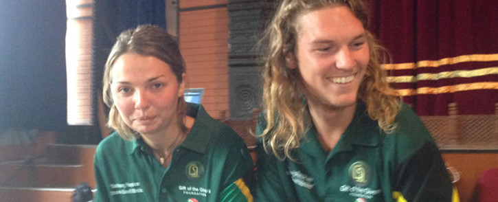 South Africans Mike Sherman & Kate Ahrends after being rescued from Langtang, Nepal following a deadly earthquake. Picture: Mia Lindeque/EWN.