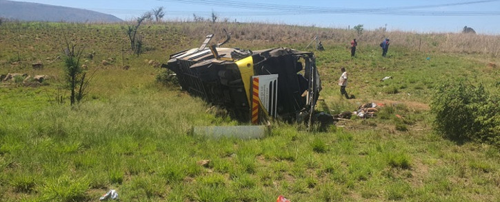 A a bus crash on the N3 near the Tugela River, in KwaZulu-Natal, has claimed 9 lives on 12 October 2021. Picture: Netcare 911/Supplied.