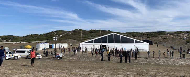 The City of Cape Town's temporary housing facility for homeless people at the Strandfontein Sports Ground. Picture: Kaylynn Palm/EWN