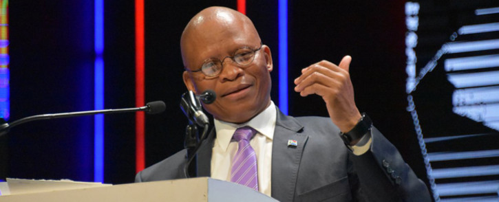 Chief Justice Mogoeng Mogoeng addressing the 67 minutes' leadership talk on 17 July 2019 in Kempton Park. Picture: @OCJ_RSA/Twitter