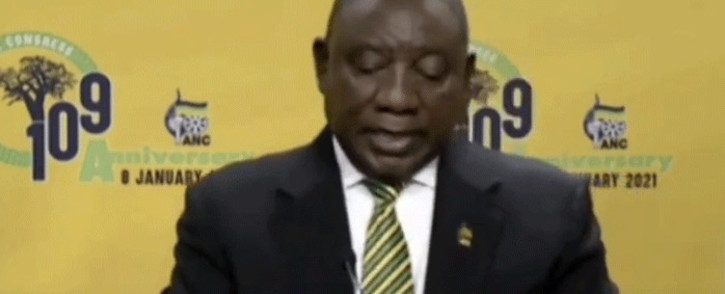ANC president Cyril Ramaphosa was virtually delivering the party's January 8 Statement on Friday evening.