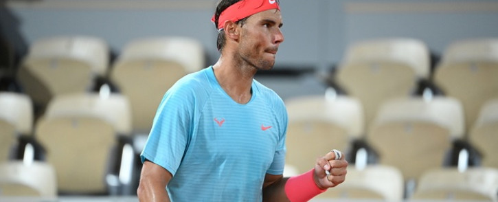 Spain's Rafael Nadal at the Philippe Chatrier court on Day 6 of The Roland Garros 2020 French Open tennis tournament in Paris on 2 October 2020. Picture: @rolandgarros/Twitter